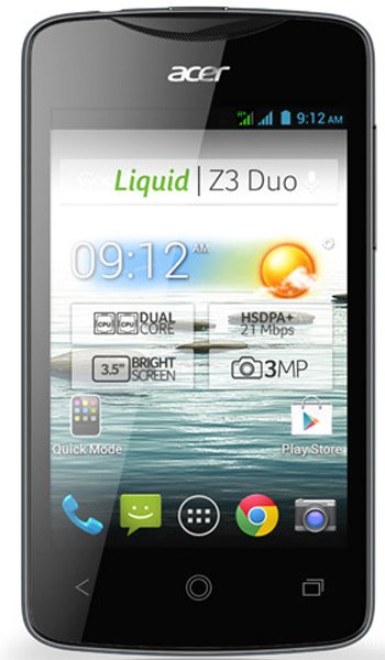 Acer Liquid Z3 Specs, review, opinions, comparisons